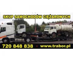 TRABOR - skup ciągników siodłowych, samochodów ciężarowych, kupię